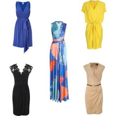 Dresses for Pear Shaped Women by tystyleme, via Polyvore