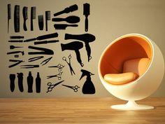 Wall Room Decor Art Vinyl Sticker Mural Decal Hair Salon Tools Big Large AS823 #3M