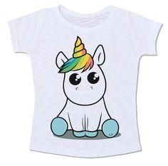 camiseta moda bbylook baby look unicórnio gay