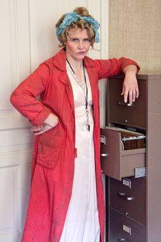 """As Miss Hannigan in """"Annie"""" at Theatre Cedar Rapids, December 2009"""