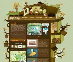 Illustration website design