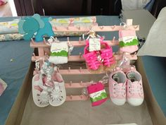 DIY baby shoe rack