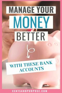 Manage your money better with these bank accounts. Having multiple bank accounts can make it easier to save money, pay off debt and budget your finances. Use these accounts to stick to your budget. Financial Stress, Financial Peace, Financial Goals, High Interest Accounts, High Interest Savings, Money Market Account, Bank Account, Money Saving Challenge, Money Saving Tips