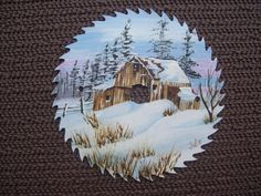 Barn in the Snow by JuliesReUSEables on Etsy, $20.00