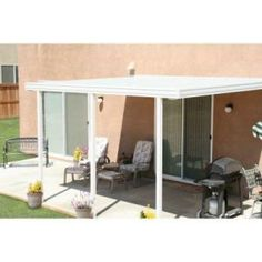 Aluminum Attached Solid Patio Cover 1252006701214 At The Home Depot