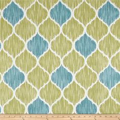 Screen printed on cotton twill, this medium/heavyweight fabric is very versatile and has a nice hand, perfect for window treatments (draperies, curtains, valances, and swags), bed skirts, duvet covers, pillow shams, accent pillows, tote bags, aprons, slipcovers and upholstery. Colors include white and shades of blue and green.