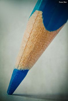 Blue pencil macro by Onelia Peña Galvez. Wow!
