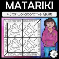 Matariki Art – 4 Star Collaborative Quilts by Suzanne Welch Teaching Resources School Resources, Teaching Resources, Classroom Resources, Classroom Ideas, Goal Setting Template, Art Worksheets, Cool Art, Fun Art, Maori Art