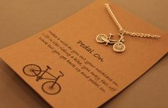 Bicycle Wish Necklace: Pedal on Bicycle Wish by CraftsbyBrittany
