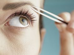 how to fix eyelashes that grow down