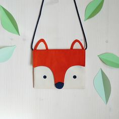 Für den Kindergarten: Fuchs Brusttasche / neck pouch, money bag in shape of a fox by Tell-Me via DaWanda.com