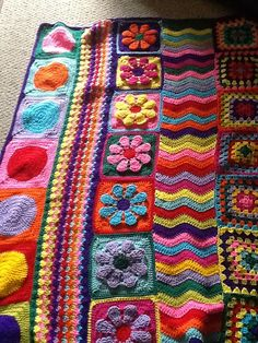 rows of different crochet patterns