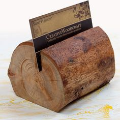 Woodcrafted Business Card Holder by CreativeWoodcraft