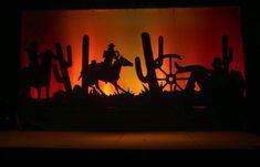 Western Sunset Silouette Backdrop