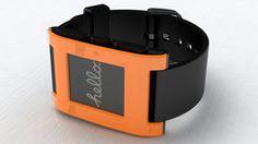 Pebble Smart Watch by Pebble Technology: Whoa, glossy orange... love beautiful technology!  #Pebble #Smart_Watch