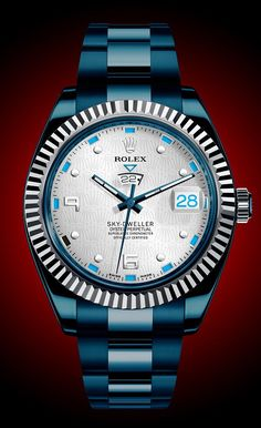 Rolex Sky-Dweller Don't usually like Rolex,  but the color of this is really nice.
