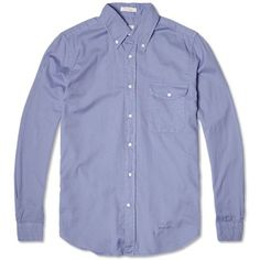 GANT Rugger Fluffy Button Down Oxford Shirt (Orion Blue)