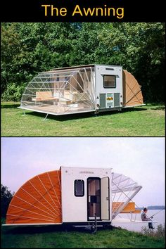 The Awning is a unique mobile home you'll be amazed with its design!