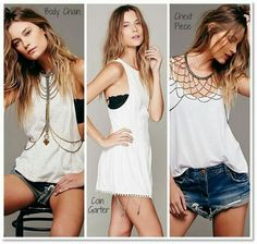 I love the coin garter under a simple white dress! Boho perfection!!