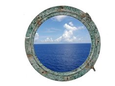 RMS Titanic Shipwrecked Decorative Porthole Window 20""