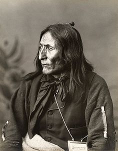 Crowfoot (c. 1821–1830 – 25 April 1890) or Isapo-Muxika, was a chief of the Siksika First Nation. His parents, Istowun-eh'pata (Packs a Knife) & Axkahp-say-pi (Attacked Towards Home), were Kainai. His brother Iron Shield became Chief Bull. He was only five when Istowun-eh'pata was killed during a raid on the Crow tribe, & a year later, his mother remarried to Akay-nehka-simi (Many Names) of the Siksika people.