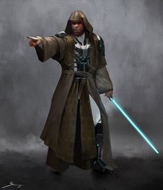 Jedi Master Male - Concept Design by Ron-faure on DeviantArt Star Wars Jedi, Rpg Star Wars, Jedi Armor, Jedi Sith, Sith Lord, Jedi Cosplay, Jedi Costume, Star Wars Characters Pictures, Star Wars Images