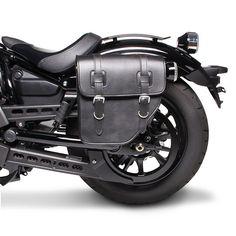 Saddle Bag Texas for Harley Davidson Sportster 883 (XL 883) black left