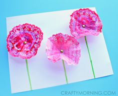 doily watercolor craft