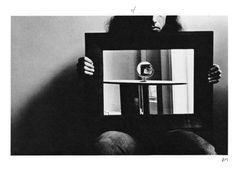 """Alice's mirror"", 1974, by Duane Michals."