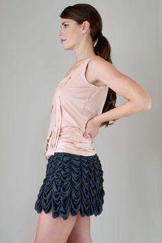 Love all the ruching! Skye Gibson Red Hummingbird Skirt.
