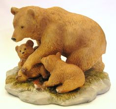 Comhome Interior Bears : bear family figurine 1435 more interiors brown home interiors bears ...