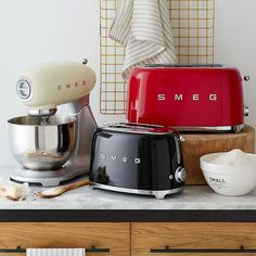 SMEG Toaster - 2 Slice | west elm. Not shown here, but I like the soft mint green toaster