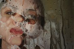 Alyssa Monks is an super-talented painter based in Brooklyn – NYC. In her paintings she can blend realism and abstraction using different filters, such as water, steam, plastic courtains, drops, to distort the body.