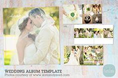 RW001 Wedding Album Template by Paper Lark  on @creativemarket