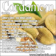 ❤ Uses and Benefits of Cardamom ❤