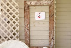 Make a memo board from reclaimed wood and inexpensive chicken wire.