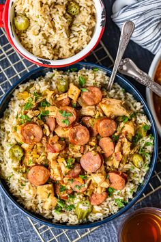 This Chicken and Sausage Gumbo recipe is a super flavorful stew served over our okra rice pilaf. A delicious and EASY gumbo recipe! Seafood Boil Recipes, Okra Recipes, Risotto Recipes, Easy Chicken Recipes, Gumbo Recipes, Dinner Recipes, Okra Gumbo, Seafood Gumbo, Seafood Dinner