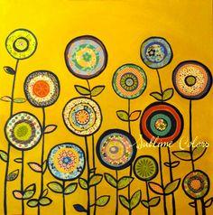sunny flowers/Art Print