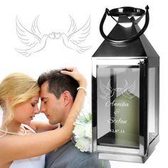 Diese Edelstahl Laterne ist ein schönes Geschenk für ein tolles Paar und setzt optisch stimmungsvolle Akzente auf jeder Feier und zu Hause. via: www.monsterzeug.de