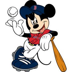 Mickey Mouse - Boston Red Sox wall decal