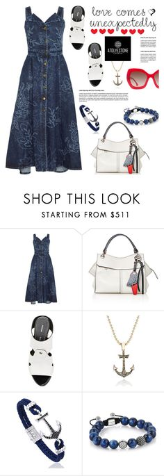 """Style with www.atolyestone.com: Love comes unexpectedly"" by hamaly ❤ liked on Polyvore featuring Peter Pilotto, Proenza Schouler, Alice + Olivia, modern, gift, jewellery and atolyestone"