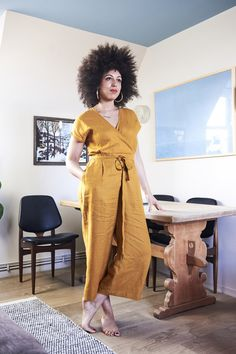 Buy the Zadie Jumpsuit sewing pattern from Paper Theory Patterns, a relaxed and easy to wear one piece with the option of wide length sleeves. Sewing Blogs, Pdf Sewing Patterns, Sewing Hacks, Sewing Tips, Sewing Ideas, Sewing Tutorials, Clothing Patterns, Dress Patterns, Basic Sewing