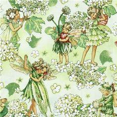 Michael Miller fabric Morning Fairy Garden flower fairy (per 0.5m multiple)