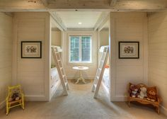 Bunk Room - Love that the bed frames are the focal point - the walled in look is gorgeous.
