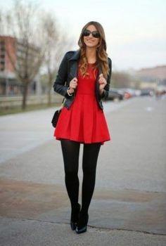 Red and black - Dress and tights – La Mia Prima Vita