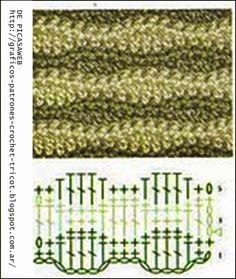 PATRONES+++-++CROCHET++-++GANCHILLO++-++GRAFICOS:+PUNTOS+EN+ZIC+ZAC+TEJIDOS+A+GANCHILLO