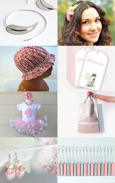Pink silvery  by Elaine on Etsy--Pinned with TreasuryPin.com