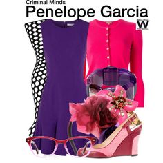 Inspired by Kristen Vangsness as Penelope Garcia on Criminal Minds. Halloween Costume, hubby as Morgan? Fashion Souls, Fashion Tv, Fandom Fashion, Chic Outfits, Fashion Outfits, Inspired Outfits, Office Outfits, Kirsten Vangsness, Penelope Garcia