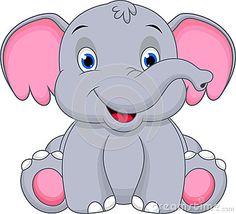 Cute baby elephant cartoon by Muhammad Desta Laksana, via Dreamstime