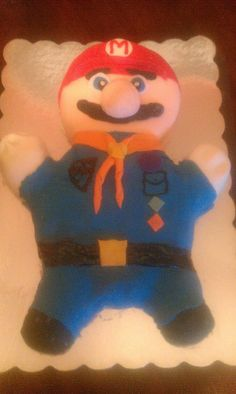 Cub Scout Cake Our mario tiger scout cake for the blue and gold banquet 2012 (best in show)